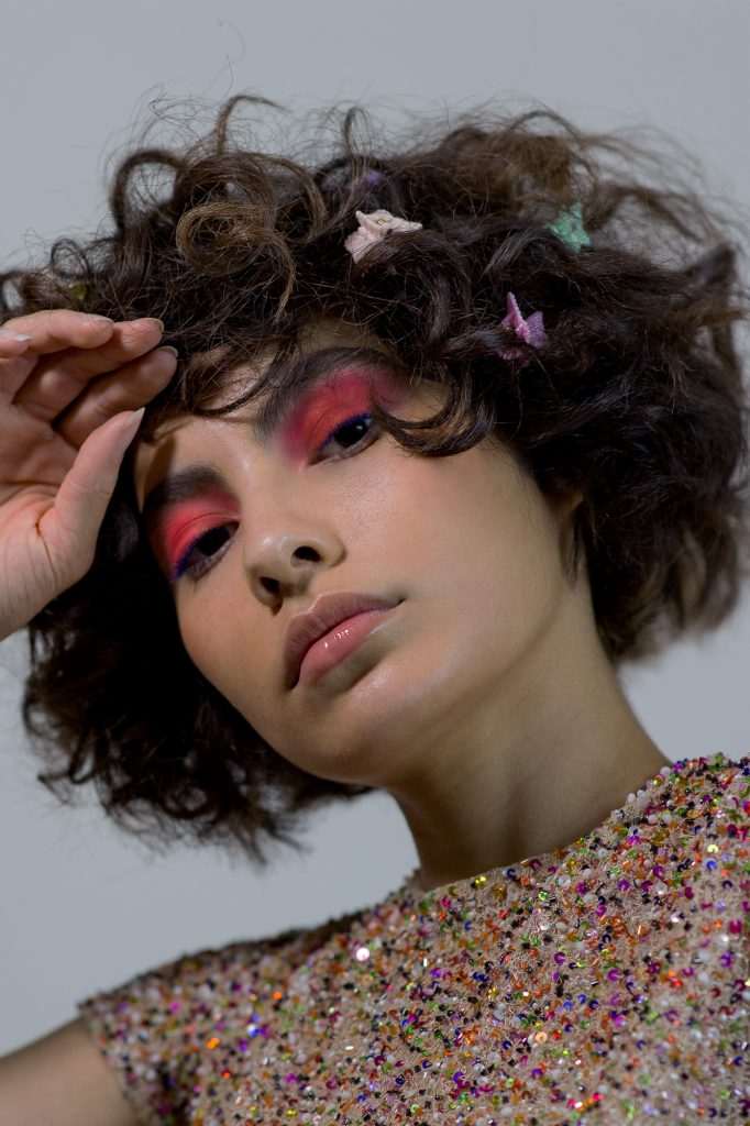A Pop of Colour Beauty Editorial Lilah Gow Chris Walsh Myria Steen Emma Batchelor